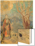 The Buddha, circa 1905 Wood Print by Redon Odilon