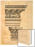 Exterior Order of the Temple of Aesculapius, Plate XLVII Wood Print by Robert Adam