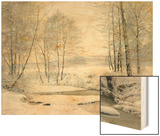 Winter Sunset Wood Print by James Thomas Watts