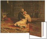 Ivan the Terrible and His Son on the 16th November, 1581, 1885 Wood Print by Ilya Efimovich Repin