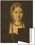 Portrait of a Woman, Possibly Catherine of Aragon (1485-1536), circa 1503/4 Wood Print by Michiel Sittow