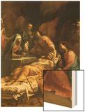 The Death of St. Joseph, C.1712 Wood Print by Giuseppe Maria Crespi