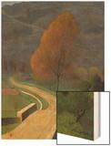 Bridge over the Beal, 1922 Wood Print by Félix Vallotton