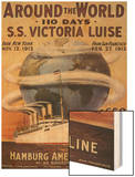 Hamburg American Line, Magazine Plate, USA, 1912 Wood Print