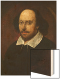 Portrait of William Shakespeare Wood Print by John Taylor