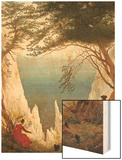 Chalk Cliffs on Rugen, C.1818 Wood Print by Caspar David Friedrich