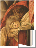 Lamentation over the Dead Christ, Detail of Mary Magdalene, 1490-1500 Wood Print by Sandro Botticelli