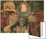 Elizabeth I, Armada Portrait, circa 1588 Wood Print by George Gower