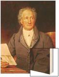 Johann Wolfgang Von Goethe (1749-1832) 1828 Wood Print by Joseph Karl Stieler