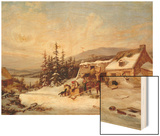 Quebec Wood Print by Cornelius Krieghoff