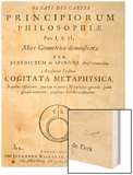 Titlepage to 'Renati Descartes Principiorum Philosophie' by Baruch Spinoza, Published in 1663 Wood Sign by Dutch