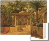 The Khabanija Fountain, Cairo, 1845 Wood Print by Grigory Tchernezov