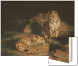 A Pair of Leopards, 1845 Wood Print by William Huggins