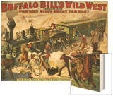 Buffalo Bill's Wild West Show, 1907, USA Wood Print