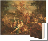 The Vision of Aeneas in the Elysian Fields Wood Print by Sebastiano Conca