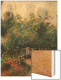 Corner of the Garden at the Hermitage Wood Print by Pissarro Camille