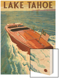 Lake Tahoe, California - Wooden Boat Prints by  Lantern Press
