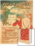 Vernet-les-Bains: Pyrenees Orientales, c.1896 Wood Print by Théophile Alexandre Steinlen