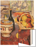 Apples Bottle and Tureen Wood Sign by Cézanne Paul