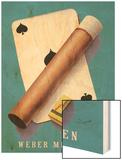 Weber Menziken Cigars Wood Print by Niklaus Stoecklin