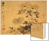 Chrysanthemums, A Leaf from an Album of Various Subjects Wood Print by Xu Gu
