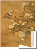 Pear Blossom and Moon Wood Print by Yun Shouping