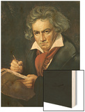 Ludwig Van Beethoven Composing the Missa Solemnis Posters by Joseph Karl Stieler