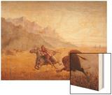 The Buffalo Hunter Wood Print by Seth Eastman