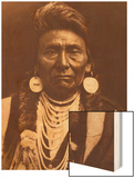 Chief Joseph-Nez Perce, 1903 Wood Print by Edward S. Curtis