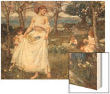 A Song of Springtime, 1913 Prints by John William Waterhouse