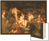 Hylas and the Nymphs Art by John William Waterhouse