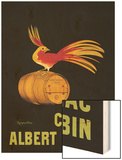 Les Cognac Albert Robin Wood Print by Cappiello Leonetto