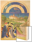 Le Tres Riches Heures Du Duc De Berry - April Wood Print by Paul Herman & Jean Limbourg