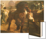 The Horse Fair Wood Print by Rosa Bonheur