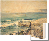 Incoming Fog, la Jolla Wood Print by Guy Rose