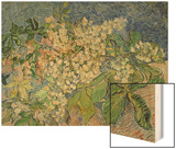Blossoming Chestnut Branches, c.1890 Wood Print by Vincent van Gogh