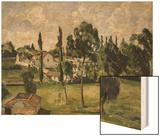 Paysage Avec Conduite d'Eau, circa 1879 Wood Sign by Cézanne Paul