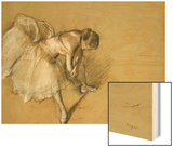 Dancer Adjusting Her Shoe, circa 1890 Print by Degas Edgar