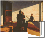 Conference at Night Wood Print by Hopper Edward