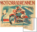 Motorradrennen - Auto Club Berlin Wood Print by Jason Pierce