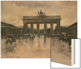 The Brandenburg Gate Wood Print by Lesser Ury