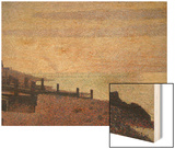 Evening, Honfleur Wood Print by Seurat Georges
