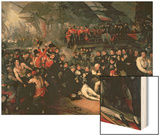 The Death of Nelson, 21st October 1805 Wood Print by Benjamin West