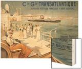 Cie. Gle. Transatlantique, circa 1910 Wood Print by Louis Lessieux