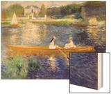 The Skiff (La Yole) Wood Sign by Renoir Pierre-Auguste