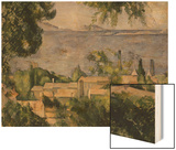 The Rooftops of l'Estaque, 1883-85 Wood Sign by Cézanne Paul