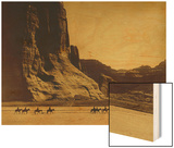 Canon De Chelly, Arizona, Navaho (Trail of Tears) Wood Print by Edward S. Curtis