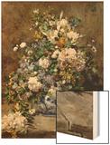 Spring Bouquet Wood Sign by Renoir Pierre-Auguste
