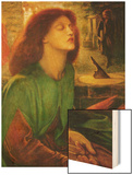 Blessed Beatrice (Beatrix) Wood Print by Dante Gabriel Rossetti