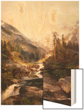 The Mountain of the Holy Cross Wood Print by Thomas Moran